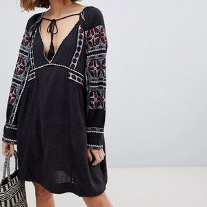 NEW NWT Free People All My Life Mini Dress Black